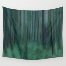 Painted Trees 2 Aqua Wall Tapestry