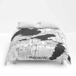 Madison Map Gray Comforters