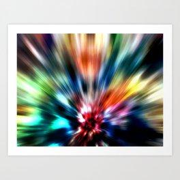 Burst of Colors Art Print