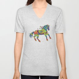 Horse, cool wall art for kids and adults alike Unisex V-Neck