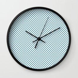 Hippie Blue Polka Dots Wall Clock