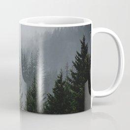 Wanderlust Forest III - Mountain Adventure in Foggy Woods Coffee Mug