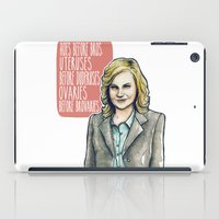 leslie knope iPad Cases featuring Leslie Knope by Tiffany Willis