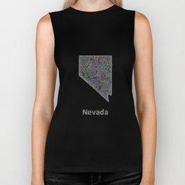 Nevada map Biker Tank