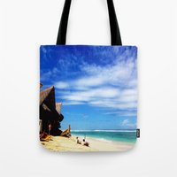 indonesia Tote Bags featuring BALI, Indonesia  by BRIELLE LEVY