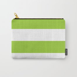 Wide stripes / yellow green Carry-All Pouch
