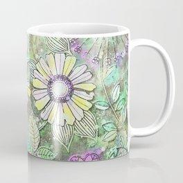 Retro Boho Daisy Floral Coffee Mug