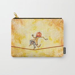 Pumpkin Tightrope Walker Carry-All Pouch