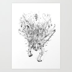 Diving Tiger Art Print