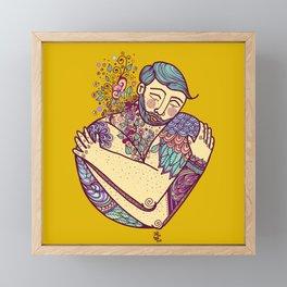 Self Love - Fluffy Fella Framed Mini Art Print