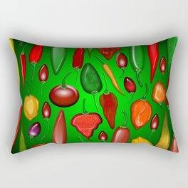 Chili Peppers Hot And Spicy Rectangular Pillow
