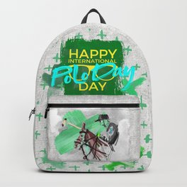 happy polo day green Backpack
