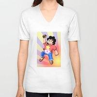 steven universe V-neck T-shirts featuring STEVEN UNIVERSE by DROIDMONKEY