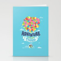 risa rodil Stationery Cards featuring Adventure is out there by Risa Rodil