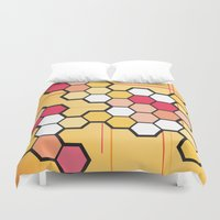 community Duvet Covers featuring Community by Barb Sotiropoulos