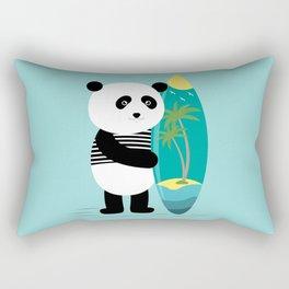 Surf along with the panda. Rectangular Pillow