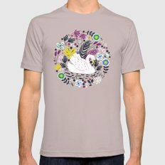 Delightful Swan Mens Fitted Tee Cinder SMALL