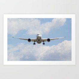 United airlines Boeing 787 Art Print