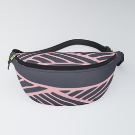 Boho Ethnic Pattern No 03 - Navy and Pink Fanny Pack