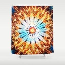Electric Daisy - ILLdesign Shower Curtain
