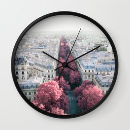 Paris View from Arch de Triomphe - Surreal Fine Art Travel Photography Wall Clock