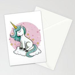 Cute Unicorn - Rainbow Pixie Dust Magic Horse Star Stationery Cards