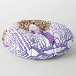 Dark Crystal Art Nouveau Floor Pillow