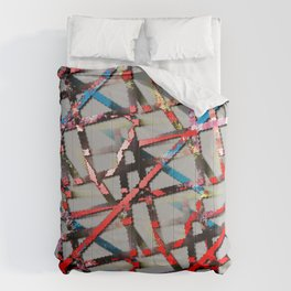 Grungy Corroded Lines  Comforters