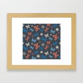 Seamless pattern with butterflies Framed Art Print