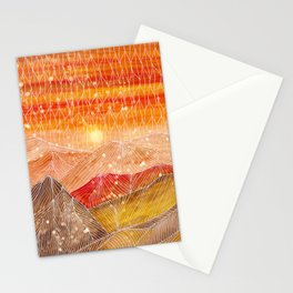 Lines in the mountains XXIV Stationery Cards