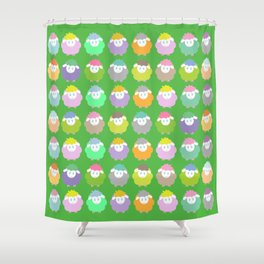 Baby Lambs in the Meadow Shower Curtain