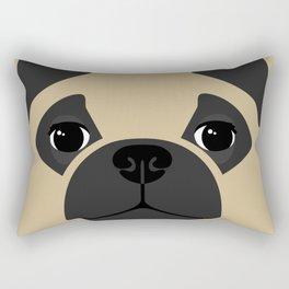 Pug Close Up Rectangular Pillow