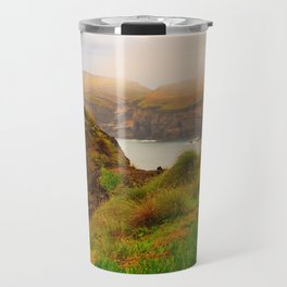 Coastal landscape in Azores Travel Mug