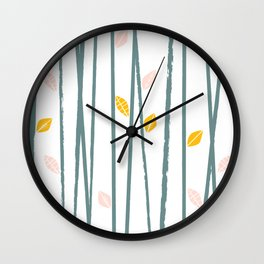 Leaves 3 Wall Clock
