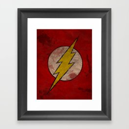 Remember The Flash Framed Art Print