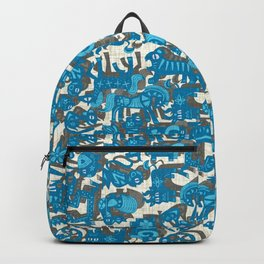 chinese animals blue Backpack
