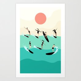 Party Wave Art Print