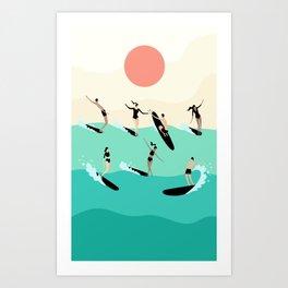 Party Wave Art Print