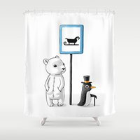 school Shower Curtains featuring School Stop by Freeminds