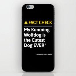 Kunming Wolfdog Dog Funny Fact Check iPhone Skin