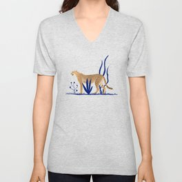 Cheetah number 1 Unisex V-Neck