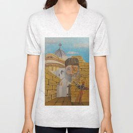 The Church of the Holy Sepulchre Unisex V-Neck