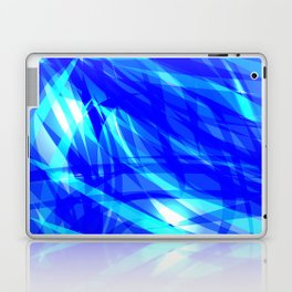 Vector glowing water background made of blue sea lines. Laptop & iPad Skin