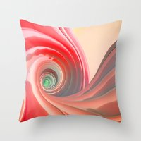 fifth element Throw Pillows featuring Fifth Gogurt by Rabassa