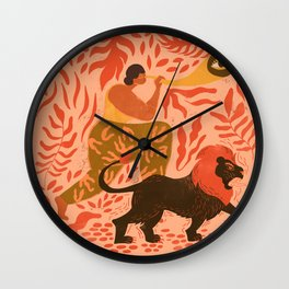 Woman with Vision Wall Clock