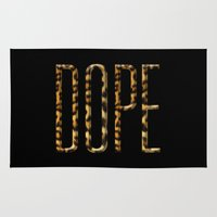 dope Area & Throw Rugs featuring DOPE by KARAM