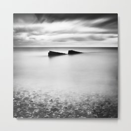 Jagged Sea Metal Print