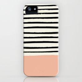 Peach x Stripes iPhone Case