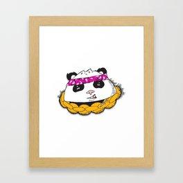 Panda Bandana Framed Art Print