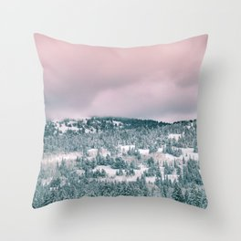 Blush Sky in Woodland Heights Throw Pillow